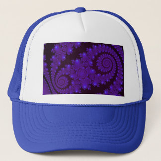 Blue And Black Spiral Fractal Trucker Hat
