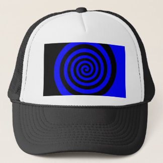 Blue and Black Spiral Trucker Hat