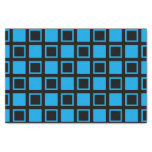 Blue and Black Squares Tissue Paper