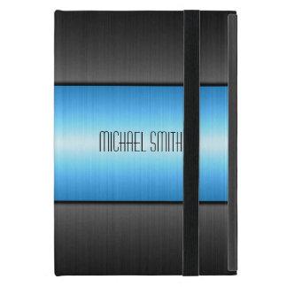 Blue and Black Stainless Steel Metal iPad Mini Case
