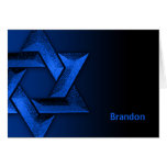 Blue and Black Star of David Thank You Cards