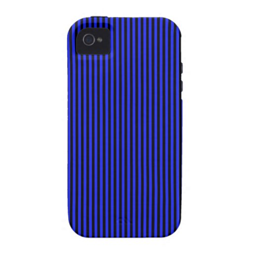 Blue and Black Stripes Case-Mate iPhone 4 Cases