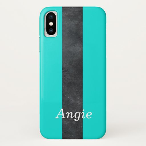 Blue and black stripes iPhone x case