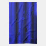 Blue and Black Stripes Hand Towel