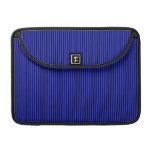 Blue and Black Stripes MacBook Pro Sleeves