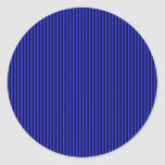 Blue and Black Stripes Stickers
