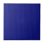 Blue and Black Stripes Tiles