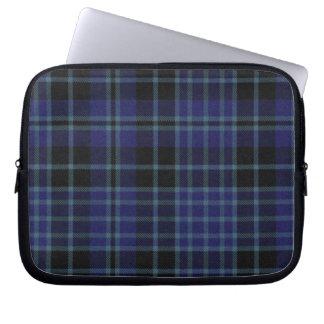 Blue and Black Tartan Plaid Laptop Cover