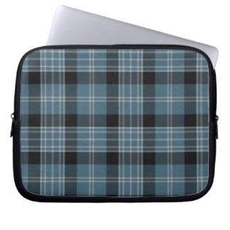 Blue and Black Tartan Plaid Laptop Cover Computer Sleeves