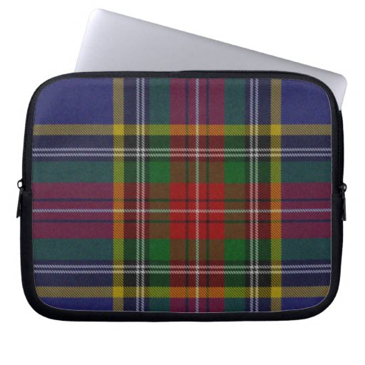 Blue and Black Tartan Plaid Laptop Cover Laptop Computer Sleeves