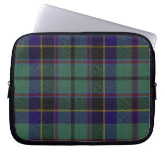Blue and Black Tartan Plaid Laptop Cover Laptop Sleeve