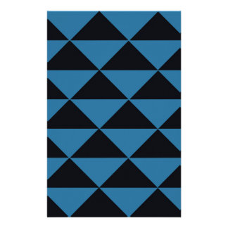 Blue and Black Triangles Stationery