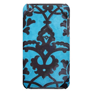 Blue and Black Vintage Mosaic Tile  Barely There iPod Covers