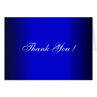 Blue and Black Wedding Blank Thank You Cards