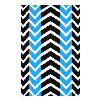 Blue and Black Whale Chevron Stationery