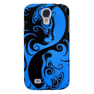 Blue and Black Yin Yang Cats Samsung Galaxy S4 Cover
