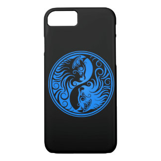 Blue and Black Yin Yang Cats iPhone 8/7 Case