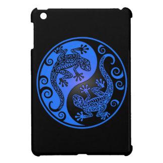 Blue and Black Yin Yang Geckos iPad Mini Cover