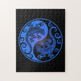 Blue and Black Yin Yang Geckos Puzzle