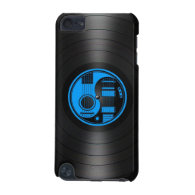 Blue and Black Yin Yang Guitars Vinyl Graphic iPod Touch (5th Generation) Covers