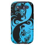 Blue and Black Yin Yang Kittens Samsung Galaxy S3 Case