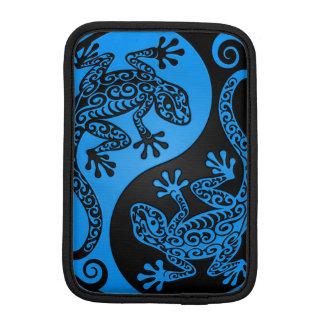 Blue and Black Yin Yang Lizards iPad Mini Sleeve