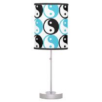 Blue and black yin yang pattern desk lamp