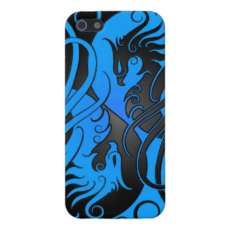 Blue and Black Yin Yang Phoenix Case For iPhone SE/5/5s
