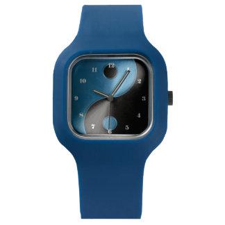 Blue and Black Yin Yang Watch