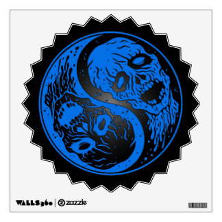 Blue and Black Yin Yang Zombies Wall Decal