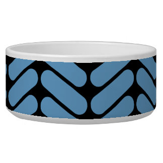 Blue and Black Zig Zag Pattern. Bowl