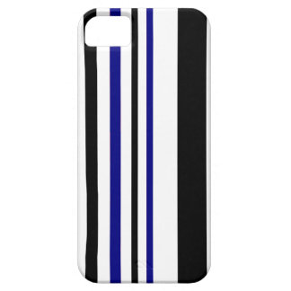 Blue and Blacl Stripes iPhone 5 Case