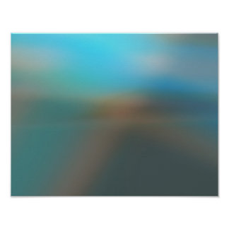 Blue and Brown Abstract Glow #2 Poster