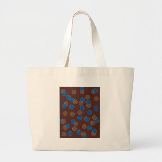Blue and Brown Balls Large Tote Bag