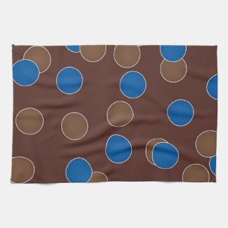Blue and Brown Balls Towels