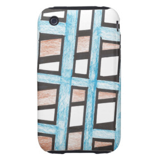 Blue and Brown Blocks iPhone 3 Case