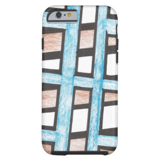 Blue and Brown Blocks iPhone 6 case