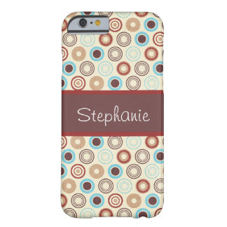 Blue and Brown Circles Personalized Barely There Barely There iPhone 6 Case