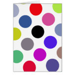 Blue And Brown Colorful Dots Greeting Card