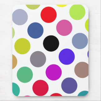 Blue And Brown Colorful Dots Mousepad