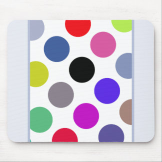 Blue And Brown Colorful Dots Mouse Pad