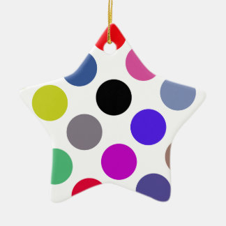 Blue And Brown Colorful Dots Christmas Tree Ornament
