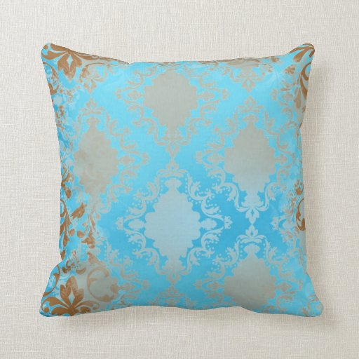blue and tan throw pillows blue and brown distressed throw pillow zazzle 7926