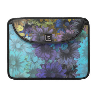 Blue and brown floral MacBook pro sleeve