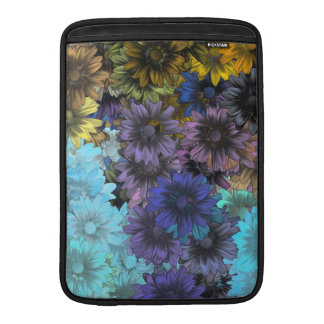Blue and brown floral sleeve for MacBook air