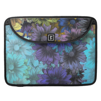 Blue and brown floral sleeves for MacBook pro
