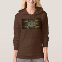 Blue And Brown Fractal Pattern Hoodie