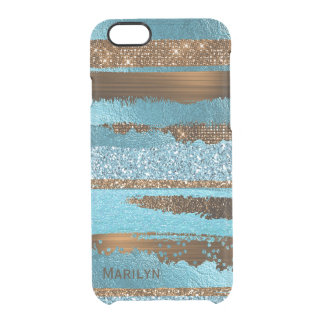 Blue and Brown Glam iPhone 6S Case