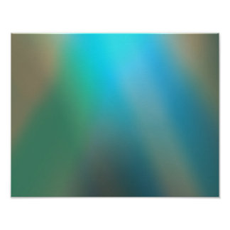 Blue and Brown Glow #1 Abstract Art Poster