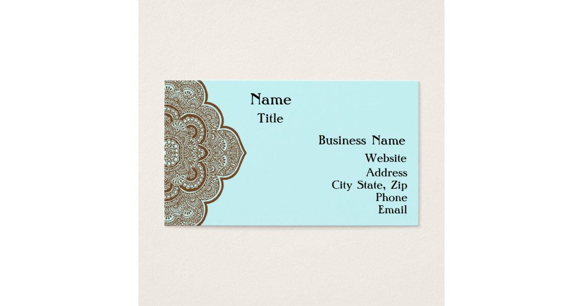 Henna Tattoo Business Cards & Templates | Zazzle
